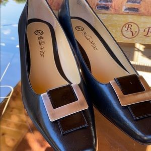 "Bella Vita ""Sophisticate"" Black Leather"
